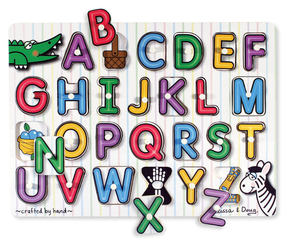 See Inside Alphabet Peg Puzzle by Melissa & Doug
