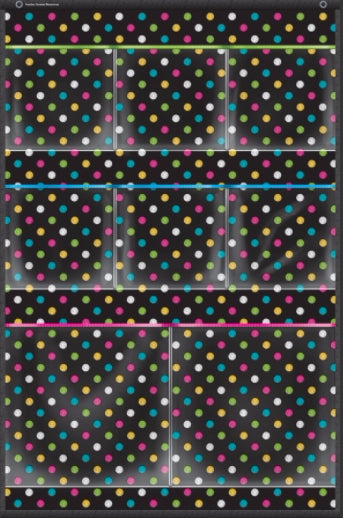 Chalkboard Brights 8 Pockets Small Storage Pocket Chart
