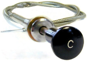 Choke Cable Early - Black Knob with 'C'
