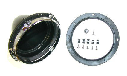 Universal Plastic Headlight Bowl With Inner Chrome Rim
