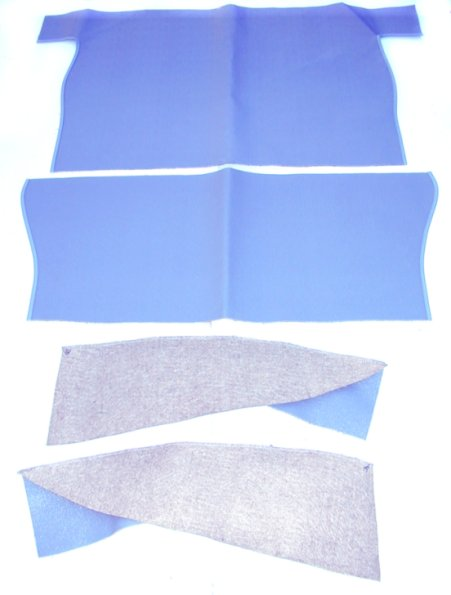Rear Compartment PVC/Felt Mat Set