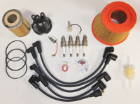 Tune Up & Filter Service Kit - 948, 1098 & 1275cc Morris Minors - 25D4 Top Entry Distributor Cap With Push In Leads - Cartridge Type Oil Filter