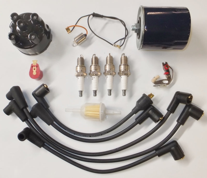 Tune Up & Filter Service Kit - 803cc Morris Minor With 45D4 Distributor With Push In Leads