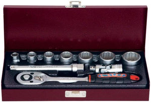 "Socket Set - Whitworth - 3/8"" Drive - Includes Ratchet In A Steel Case"