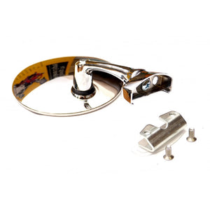 Mirror - Complete - Clamp On - Round - No Drilling