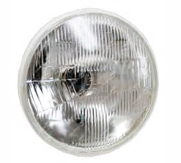 Headlamp - Quartz Halogen - Domed As Per Original