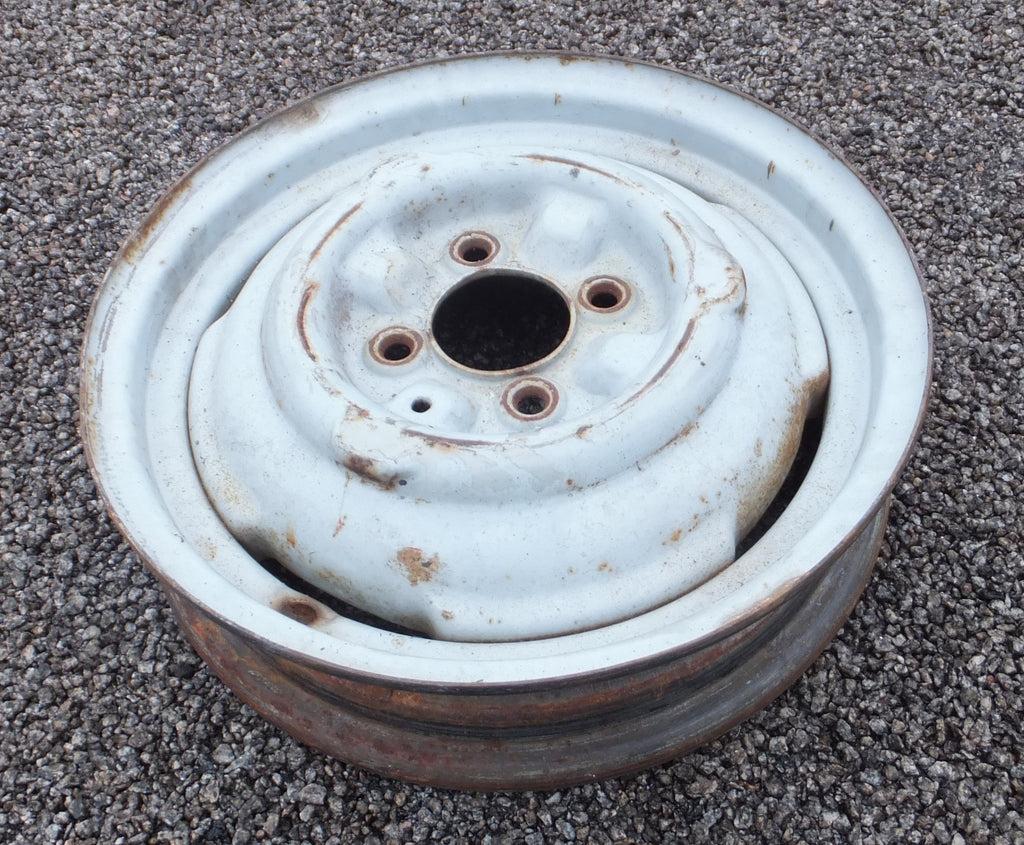 "Wheel - Used - Standard Morris Minor 3"" Wheel To Suit All Morries From 1953 On"