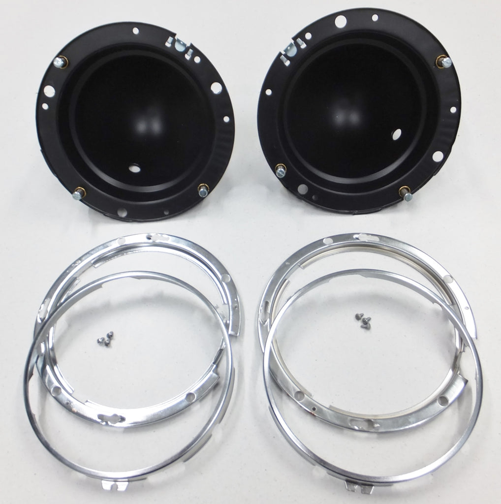 Headlamp Bucket , Metal Holder & Inner Bezel Kit - Pair - Suits BPF Headlamps Only