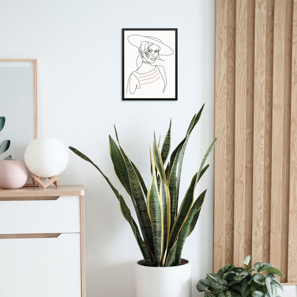 Abstract One Line Woman Wall Art Print