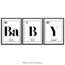 BABY Periodic Table of Elements Words Art Print Set by Sincerely, Not