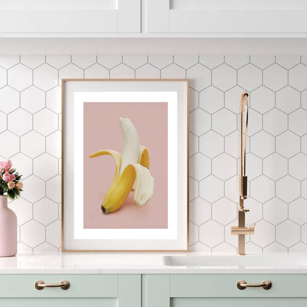 Banana Art Print for Kitchen or Dining Room Decor