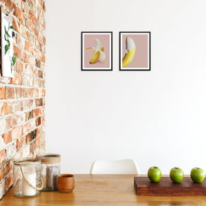 Set of Banana Art Prints for Kitchen or Dining Room Decor