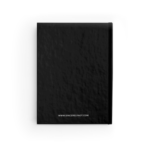 Notes and Shit Ruled Hardcover Notebook Black Diary by Sincerely, Not