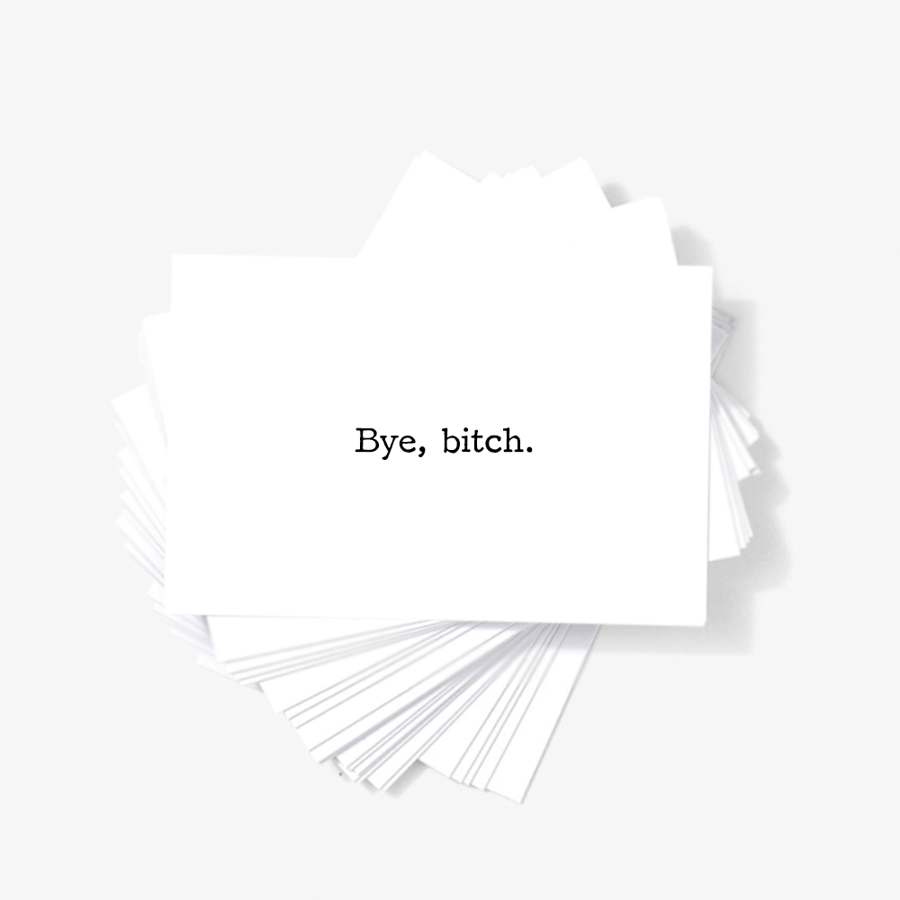 Offensive Quotes Sincerely Not Bye Bitch Sarcastic Mini Greeting Cards Note Cards Set