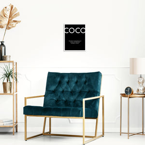 Coco Chanel Fashion Quote Art Print Trendy Wall Poster