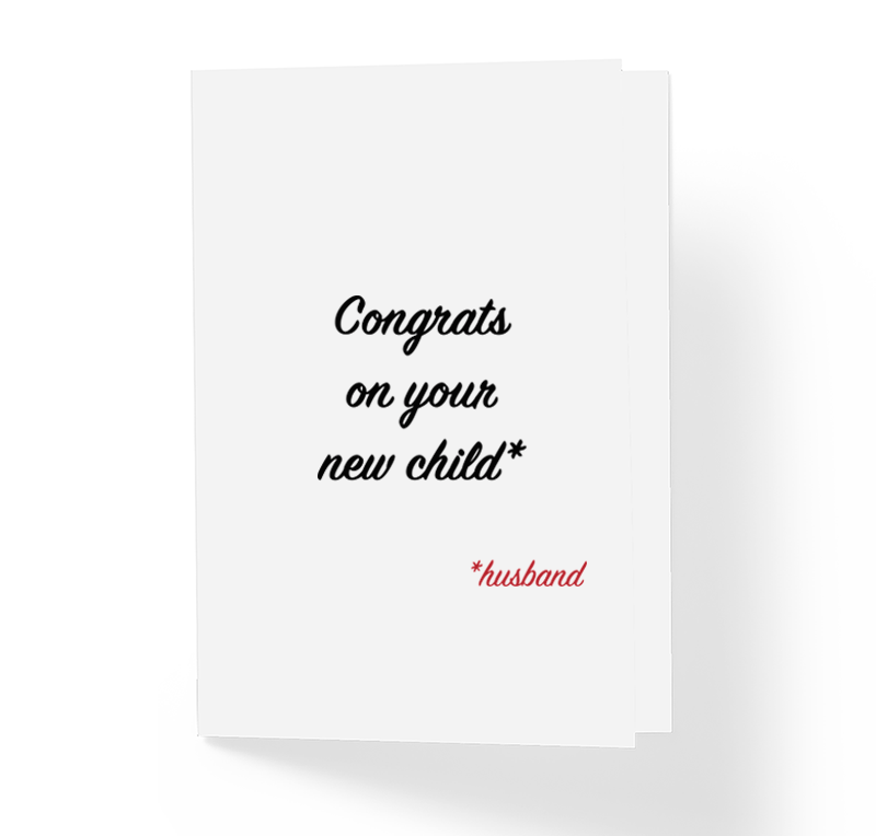 Funny Sarcastic Wedding Card Congrats on Your New Child I Meant Husband by Sincerely, Not Greeting Cards and Novelty Gifts