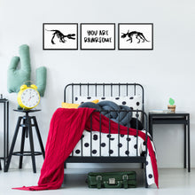 Dinosaurs Art Print Set for Boys Bedroom Cool Dino Wall Posters
