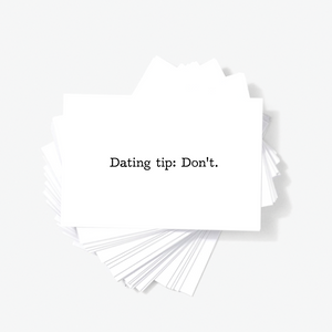 Perfect Dating Tip Donu0027t Offensive Mini Greeting Cards With Quote By Sincerely, ...