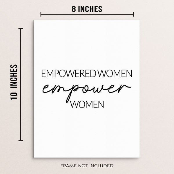 Sincerely, Not |Feminist Quote Art Print Empowered Women Empower Women