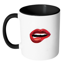Red Lips Fashion Statement Coffee Mug 11oz Ceramic Tea Cup Exclusive Design by Sincerely, Not