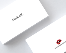 Fuck Off Offensive Honest Mini Greeting Cards Adult Note Cards by Sincerely, Not