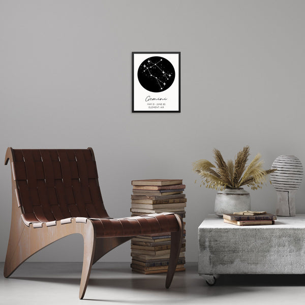 GEMINI Constellation Art Print Astrological Zodiac Sign Wall Poster by Sincerely, Not