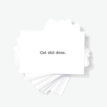 Get Shit Done Motivational Encouragement Mini Greeting Cards by Sincerely, Not