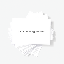 Good Morning Fucker Offensive Sarcastic Mini Greeting Cards by Sincerely, Not