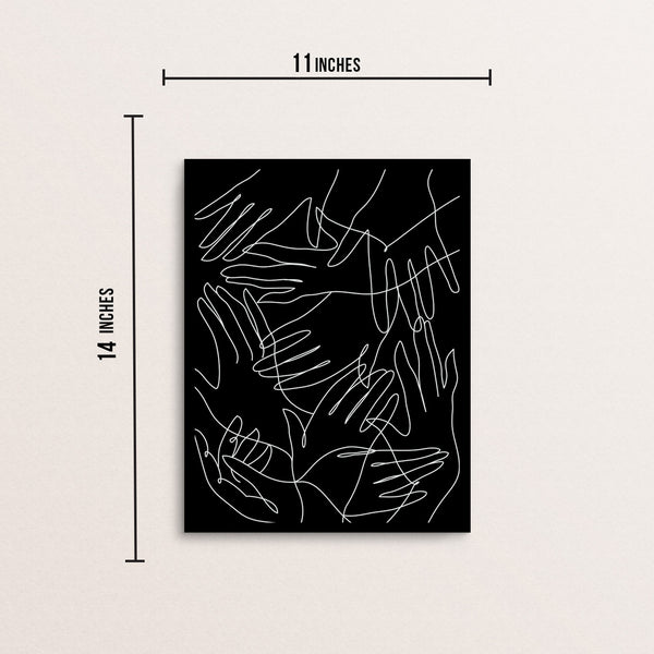 Modern Abstract One Line Hands Pattern Wall Decor Art Print Poster