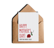 From Your Favorite Child Funny Happy Mother's Day Greeting Card by Sincerely, Not Greeting Cards