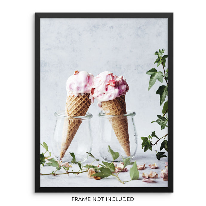 Ice Cream Cones Picture Wall Art Print