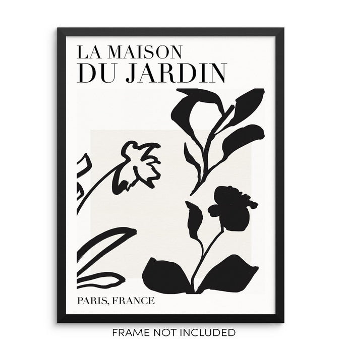 Sincerely, Not One Line Botanical Art Print La Maison Du Jardin Abstract Flowers Poster 11