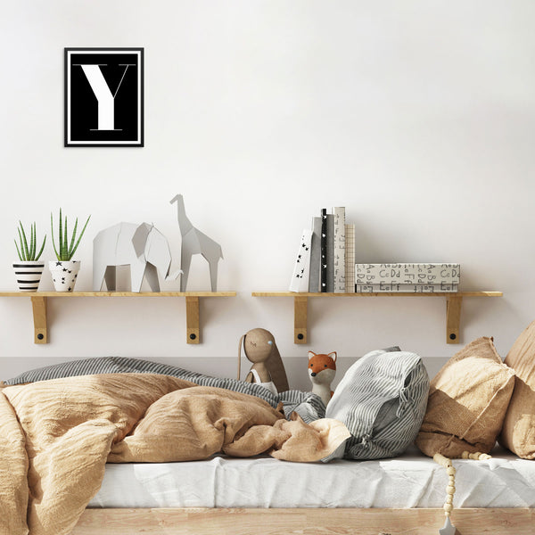 Alphabet Letter 'Y' Monogram Initials Art Print Wall Poster