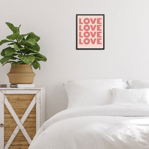 Love Typography Art Print Retro Wall Decor Poster