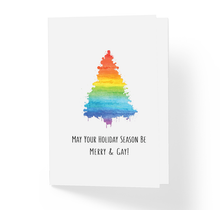 Love Friendship Christmas Card May Your Holiday Season Be Merry & Gay by Sincerely, Not Greeting Cards