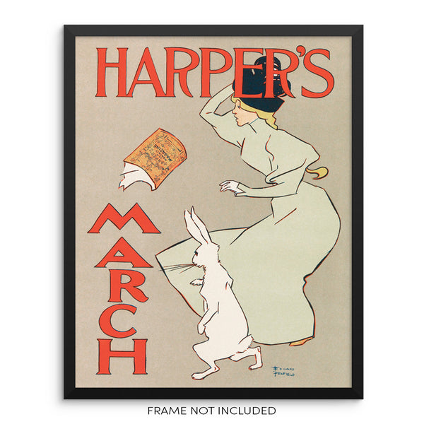 Vintage Harper's Magazine Fashion Wall Art Print by Sincerely, Not