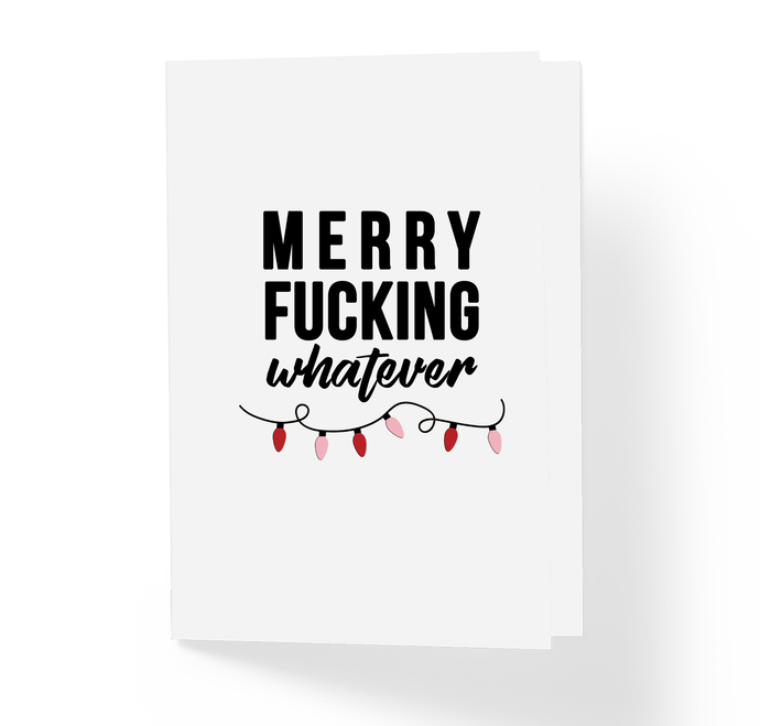 Christmas Festive Holiday, Funny, Witty, Offensive Rude X-Mas Greeting Card by Sincerely, Not