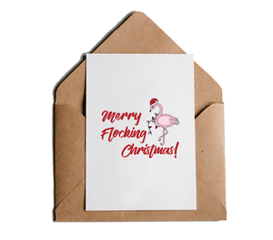 Merry Flocking Christmas Holiday Greeting Card, Funny, Witty, Offensive X-Mas Greeting Card by Sincerely, Not