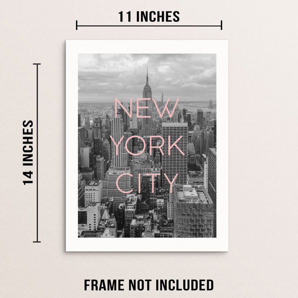 New York City Wall Decor Art Print Poster NYC Skyline