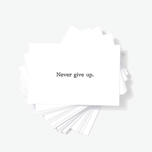Never Give Up Motivational Encouragement Mini Greeting Cards by Sincerely, Not