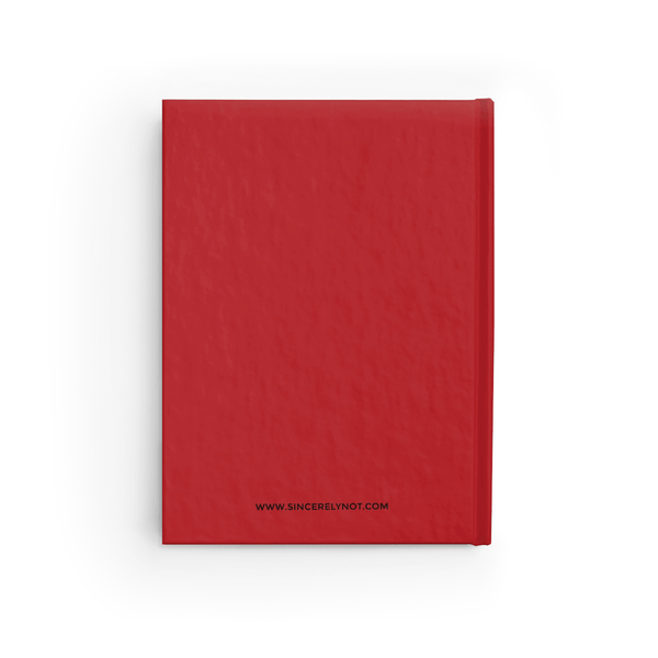 Little Red Book Hardcover Ruled Notebook Diary by Sincerely, Not