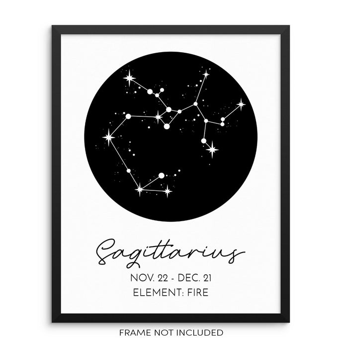 SAGITTARIUS Constellation Art Print Astrological Zodiac Sign Poster