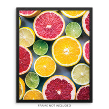 Sliced Citrus Fruit Modern Kitchen and Dining Room Wall Art Print