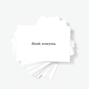 Shock Everyone Motivational Encouragement Mini Greeting Cards by Sincerely, Not