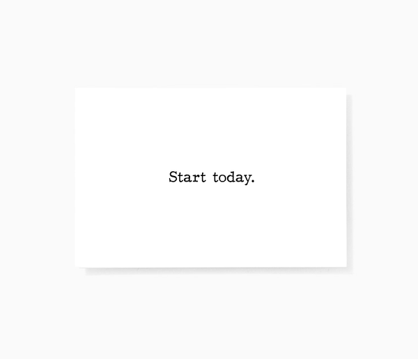 Start Today Motivational Encouragement Mini Greeting Cards by Sincerely, Not