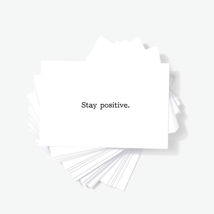 Stay Positive Motivational Encouragement Mini Greeting Cards by Sincerely, Not
