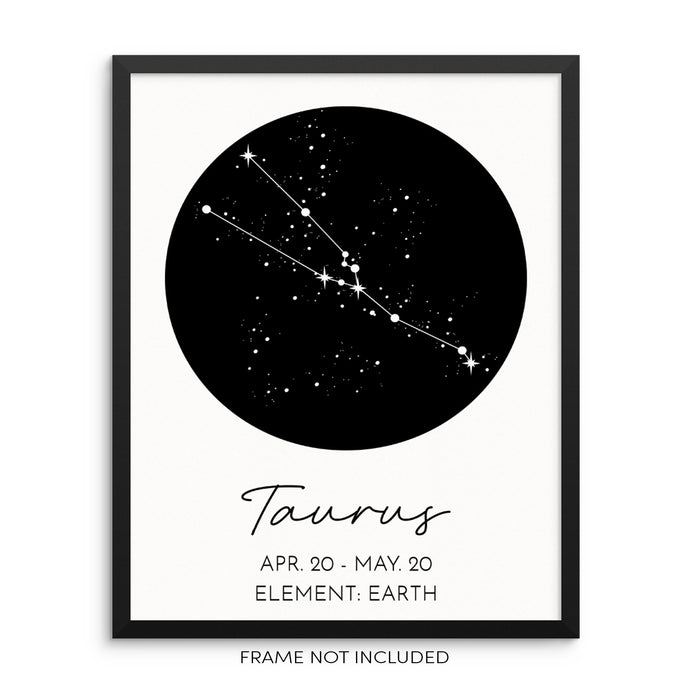 TAURUS Constellation Art Print Astrological Zodiac Sign Wall Poster by Sincerely, Not
