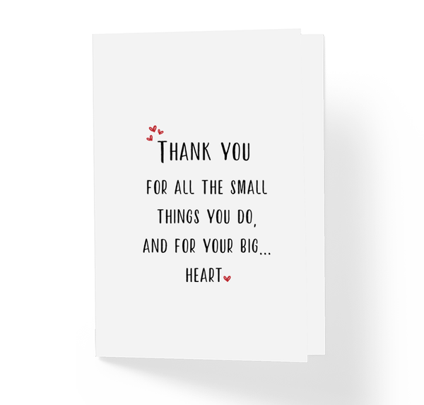 Honest Thank You Greeting Card For All The Small Things You Do by Sincerely, Not