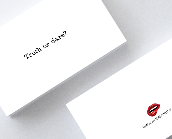Truth or Dare Honest Sarcastic Mini Greeting Cards by Sincerely, Not