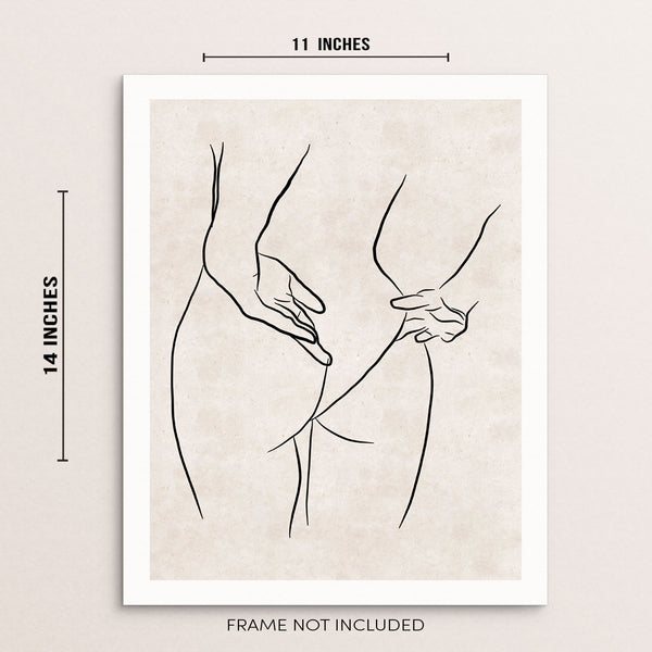 Line Drawing Art Print Woman's Body Figure Poster